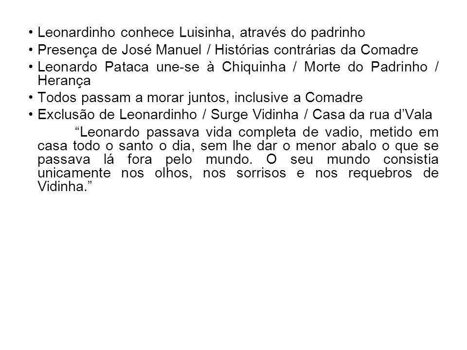 Leonardinho conhece Luisinha, através do padrinho Presença de José Manuel / Histórias contrárias da Comadre Leonardo Pataca une-se à Chiquinha / Morte