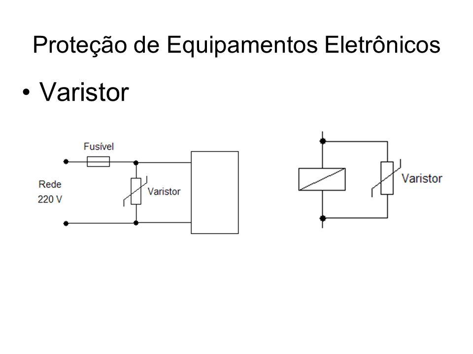 Diodo TVS (Transient Voltage Suppression Diode) –Operação muito rápida (picossegundos).