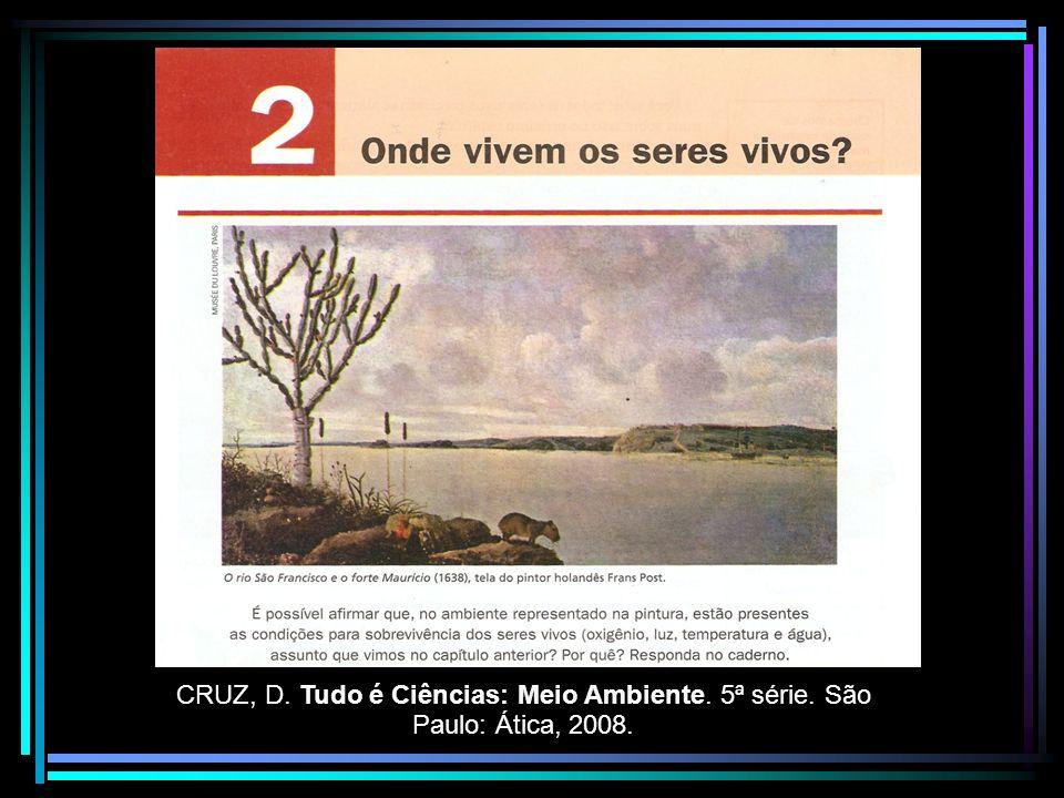CRUZ, D. Tudo é Ciências: Meio Ambiente. 5ª série. São Paulo: Ática, 2008.