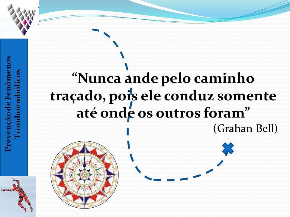 Prevenção de Fenômenos Tromboembólicos Nunca ande pelo caminho traçado, pois ele conduz somente até onde os outros foram (Grahan Bell)