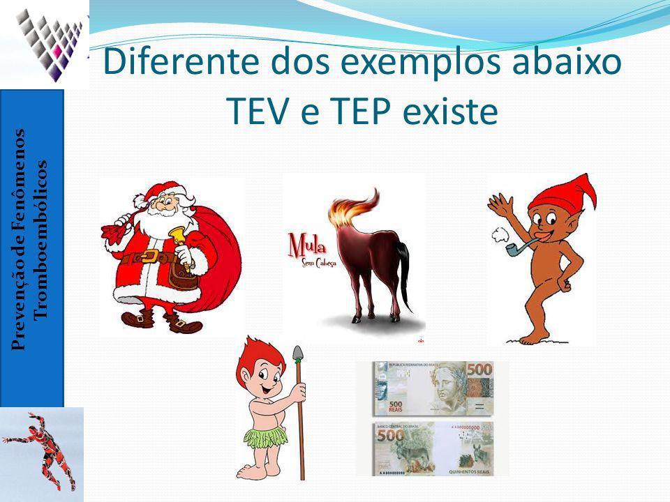 Prevenção de Fenômenos Tromboembólicos Diferente dos exemplos abaixo TEV e TEP existe