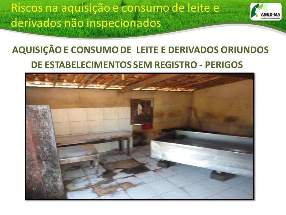 Riscos na aquisição e consumo de leite e derivados não inspecionados AQUISIÇÃO E CONSUMO DE LEITE E DERIVADOS ORIUNDOS DE ESTABELECIMENTOS SEM REGISTR