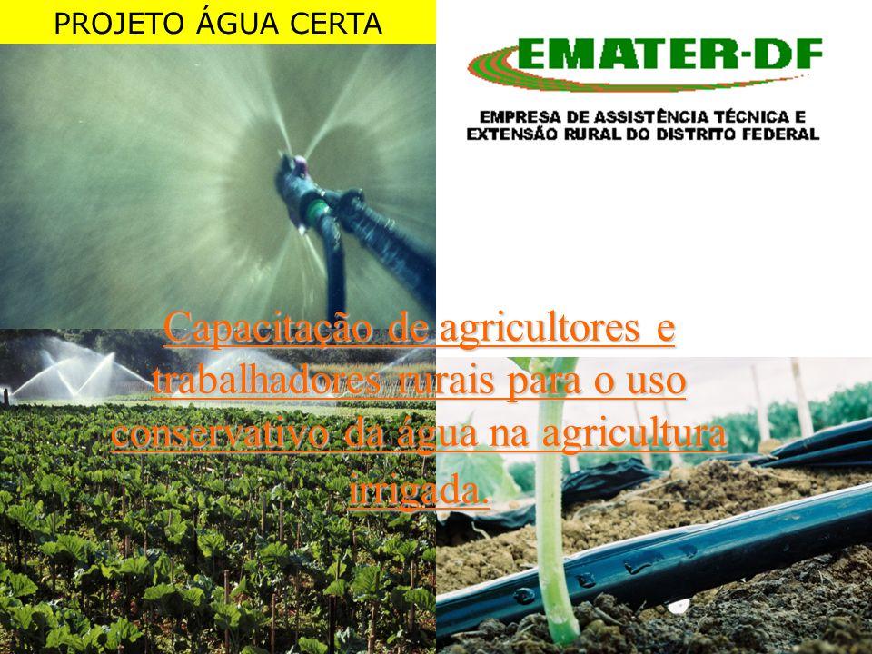 Capacitação de agricultores e trabalhadores rurais para o uso conservativo da água na agricultura irrigada. PROJETO ÁGUA CERTA