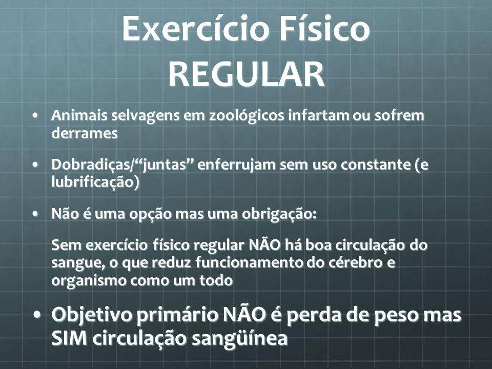 Exercício Físico REGULAR Animais selvagens em zoológicos infartam ou sofrem derramesAnimais selvagens em zoológicos infartam ou sofrem derrames Dobrad