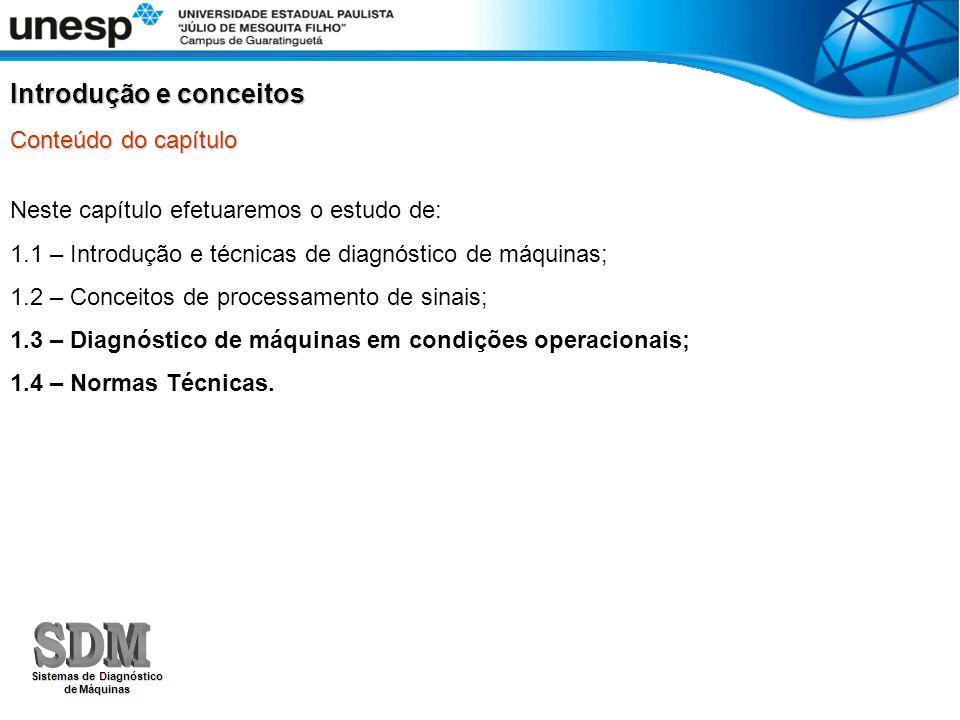 AMBIENTE MULTIMÍDIA DE SUPORTE À DISCIPLINA DE PÓS-GRADUAÇÃO FERRAMENTAS DE DIAGNÓSTICO DE MÁQUINAS Capítulo 1.3 - Diagnóstico de máquinas em condições operacionais