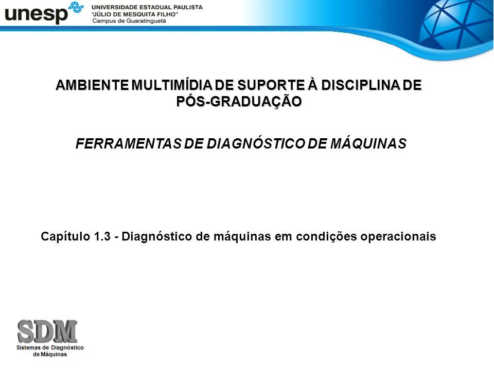AMBIENTE MULTIMÍDIA DE SUPORTE À DISCIPLINA DE PÓS-GRADUAÇÃO FERRAMENTAS DE DIAGNÓSTICO DE MÁQUINAS Capítulo 1.3 - Diagnóstico de máquinas em condiçõe