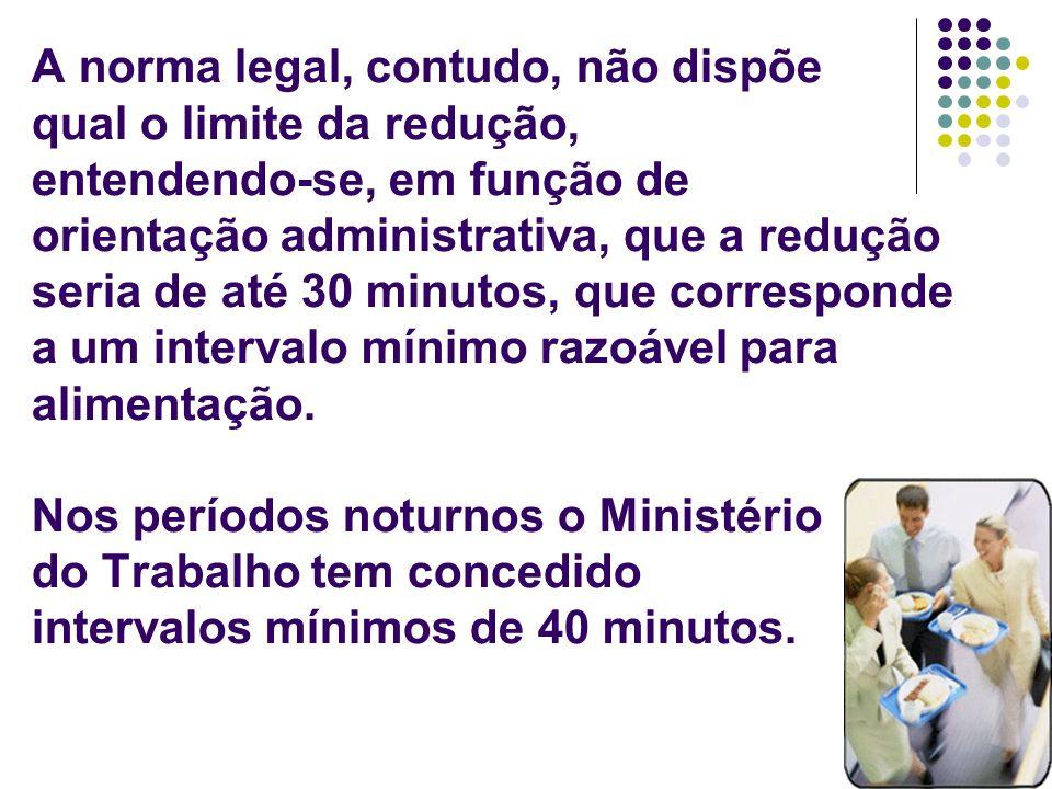 10 A norma legal, contudo, não dispõe qual o limite da redução, entendendo-se, em função de orientação administrativa, que a redução seria de até 30 m