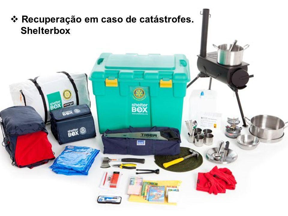 Recuperação em caso de catástrofes. Shelterbox