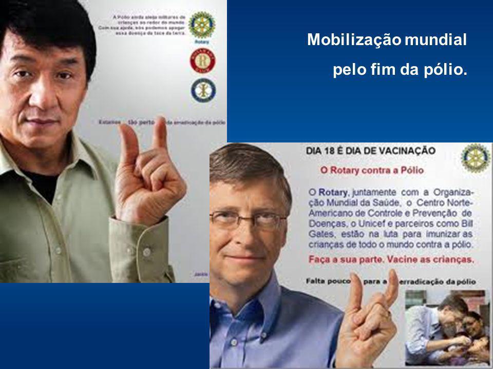 Mobilização mundial pelo fim da pólio.
