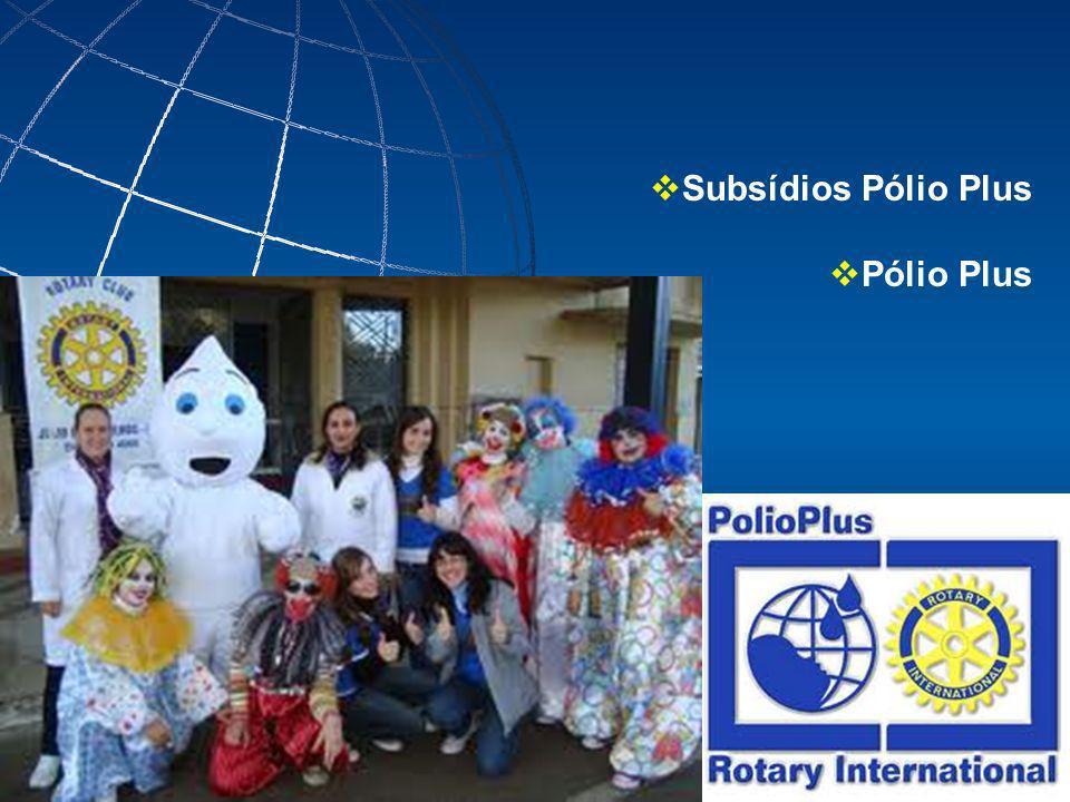Subsídios Pólio Plus Pólio Plus