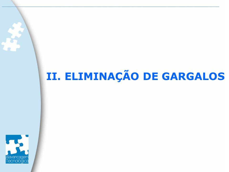 II. ELIMINAÇÃO DE GARGALOS