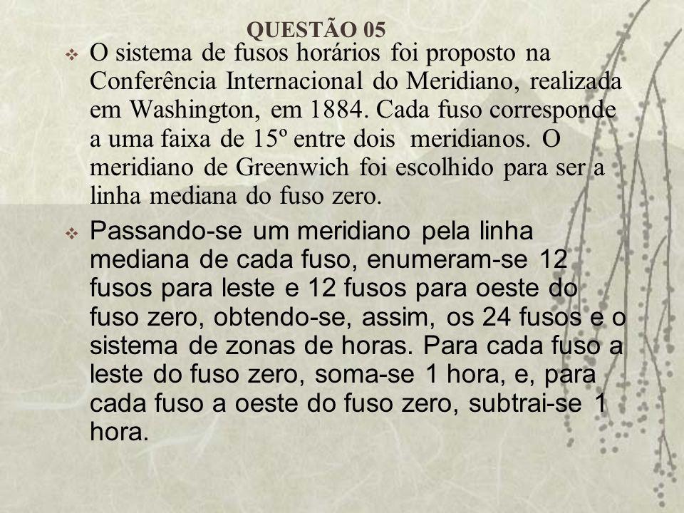 O sistema de fusos horários foi proposto na Conferência Internacional do Meridiano, realizada em Washington, em 1884. Cada fuso corresponde a uma faix