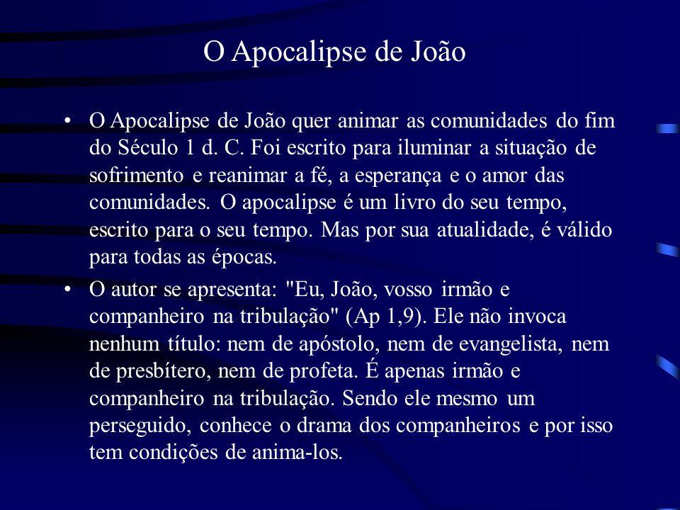 O nome João aparece quatro vezes: três na introdução (Ap 1, 1.4.9) e uma vez na conclusão (Ap 22,8).