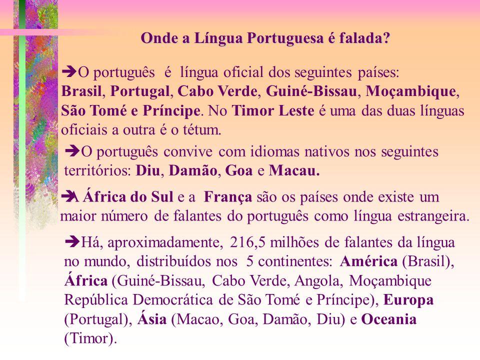 Onde a Língua Portuguesa é falada.