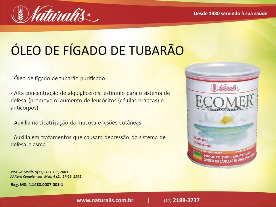 ÓLEO DE FÍGADO DE TUBARÃO - Óleo de fígado de tubarão purificado - Alta concentração de alquiglicerois: estimulo para o sistema de defesa (promove o a