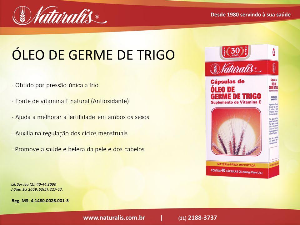 ÓLEO DE GERME DE TRIGO - Obtido por pressão única a frio - Fonte de vitamina E natural (Antioxidante) - Ajuda a melhorar a fertilidade em ambos os sex