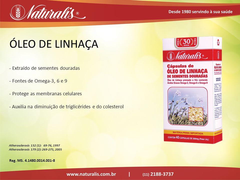 ÓLEO DE LINHAÇA - Extraído de sementes douradas - Fontes de Omega-3, 6 e 9 - Protege as membranas celulares - Auxilia na diminuição de triglicérides e