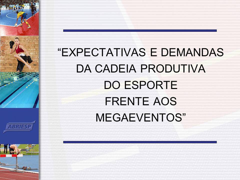 Marketing Esportivo como instrumento de estratégia empresarial Os megaeventos esportivos que acontecerão no país, nos próximos anos, funcionarão como excelentes canais de comunicação com o mercado e devem ser inseridos no planejamento mercadológico das empresas.