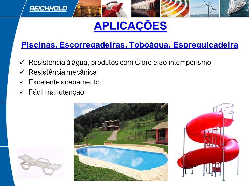 6 Banheiras e Spas Resistência à água Retenção de cor e brilho Excelente acabamento