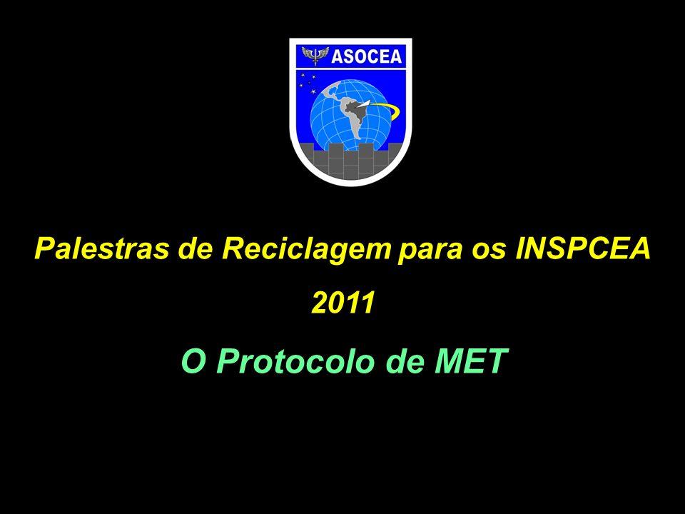 Palestras de Reciclagem para os INSPCEA 2011 O Protocolo de MET