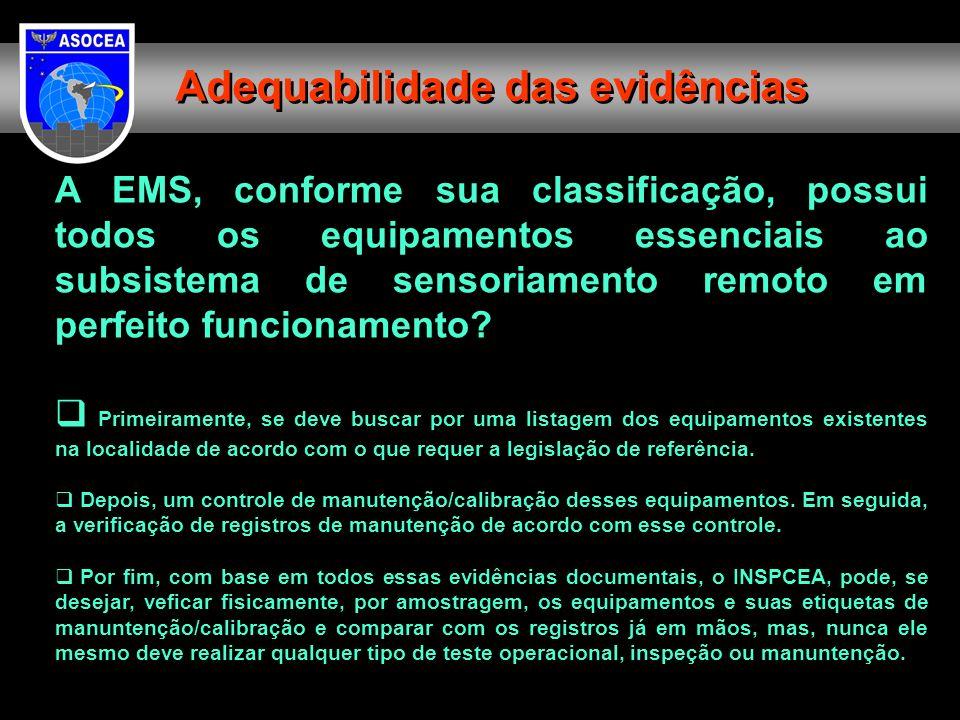 A EMS, conforme sua classificação, possui todos os equipamentos essenciais ao subsistema de sensoriamento remoto em perfeito funcionamento? Primeirame