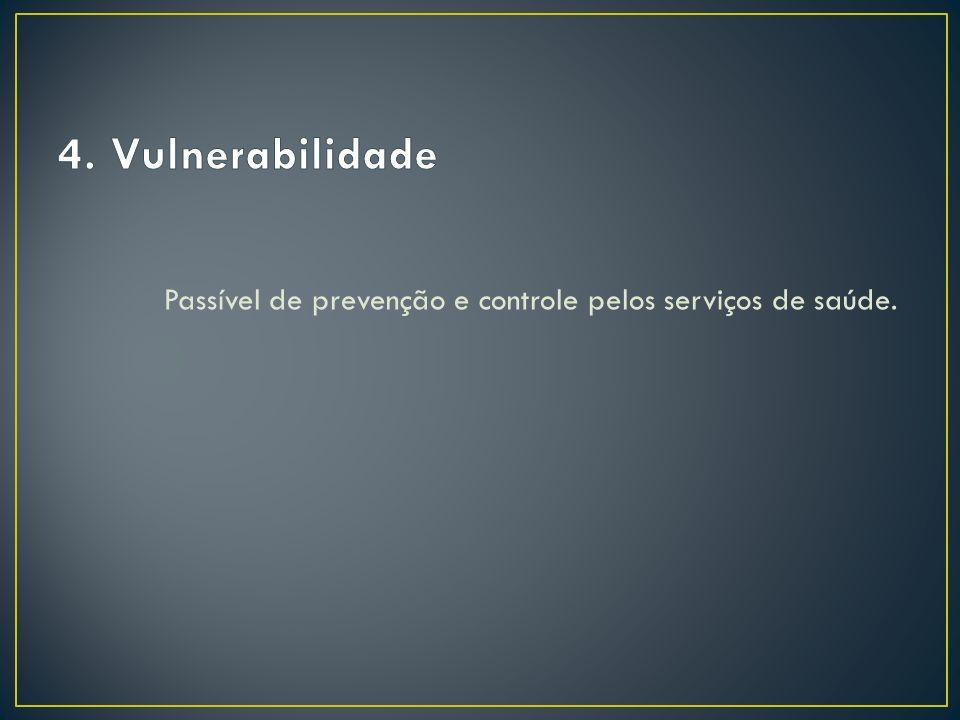 Passível de prevenção e controle pelos serviços de saúde.