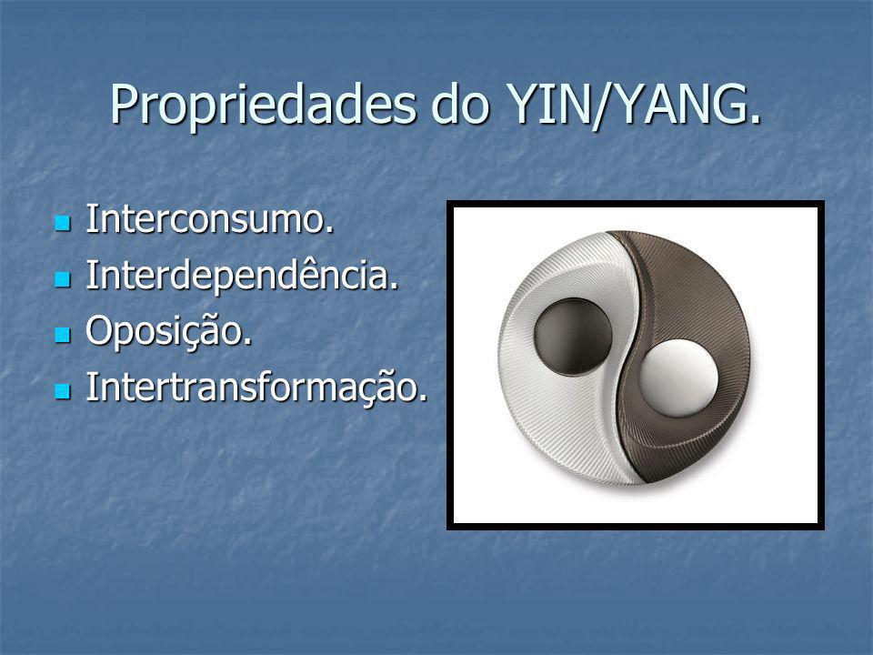 Propriedades do YIN/YANG. Interconsumo. Interconsumo. Interdependência. Interdependência. Oposição. Oposição. Intertransformação. Intertransformação.