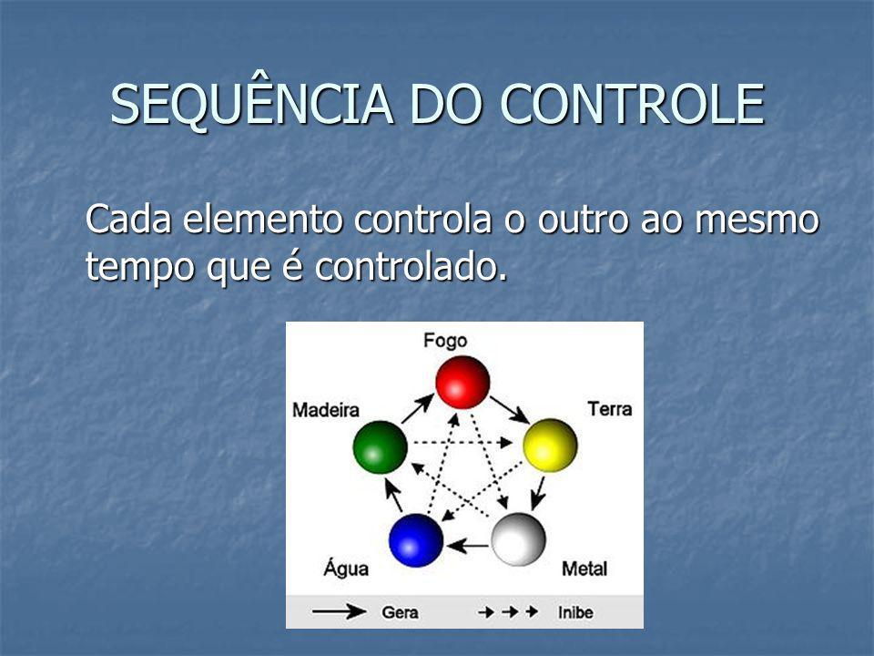 SEQUÊNCIA DO CONTROLE Cada elemento controla o outro ao mesmo tempo que é controlado.