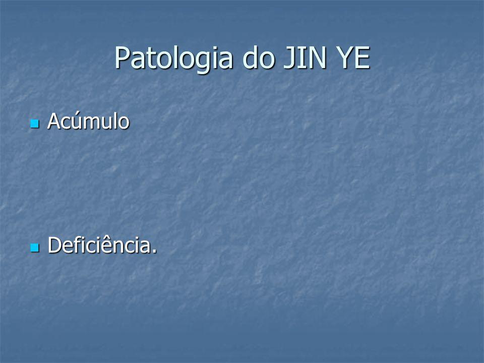 Patologia do JIN YE Acúmulo Acúmulo Deficiência. Deficiência.