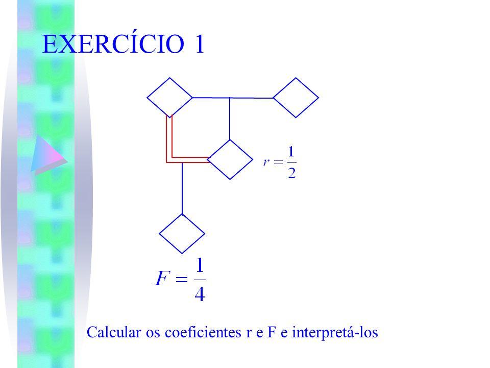 EXERCÍCIO 1 Calcular os coeficientes r e F e interpretá-los