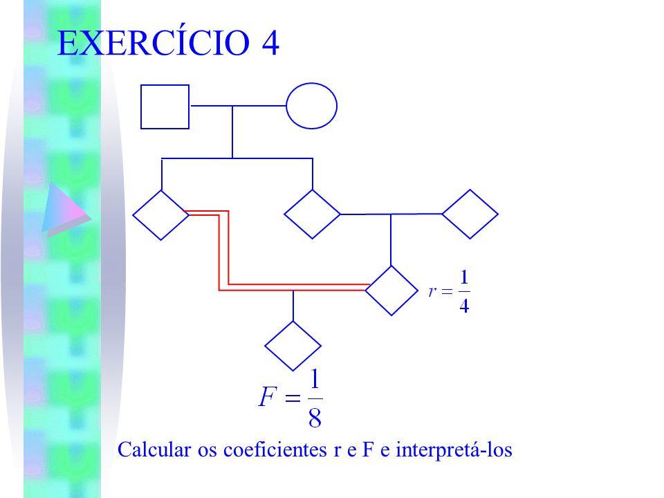 EXERCÍCIO 4 Calcular os coeficientes r e F e interpretá-los