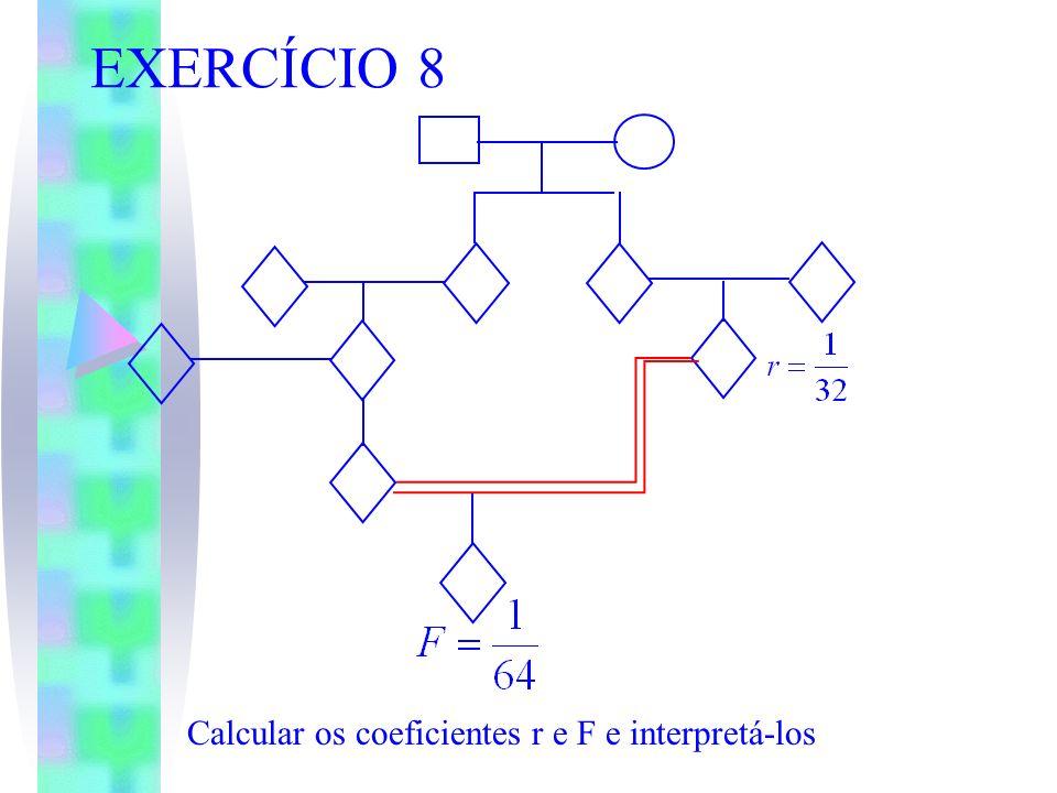 EXERCÍCIO 8 Calcular os coeficientes r e F e interpretá-los