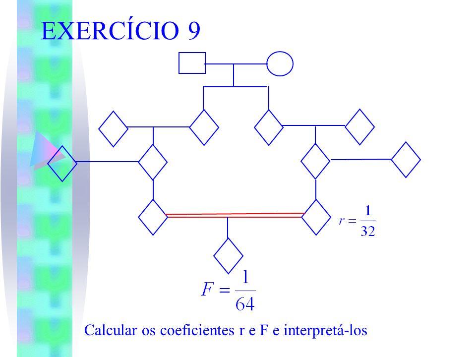 EXERCÍCIO 9 Calcular os coeficientes r e F e interpretá-los