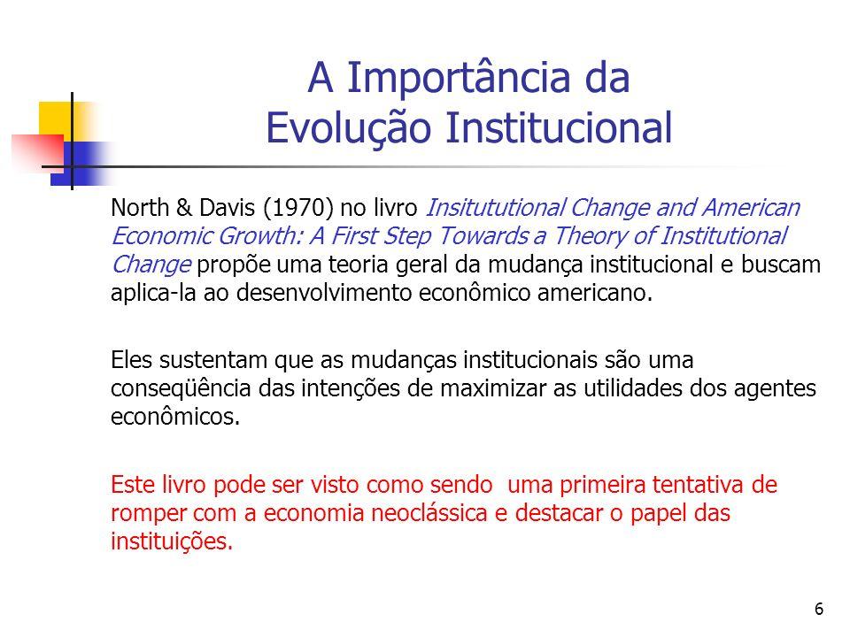 107 Por que a História é importante.[Douglass North (1990, p.