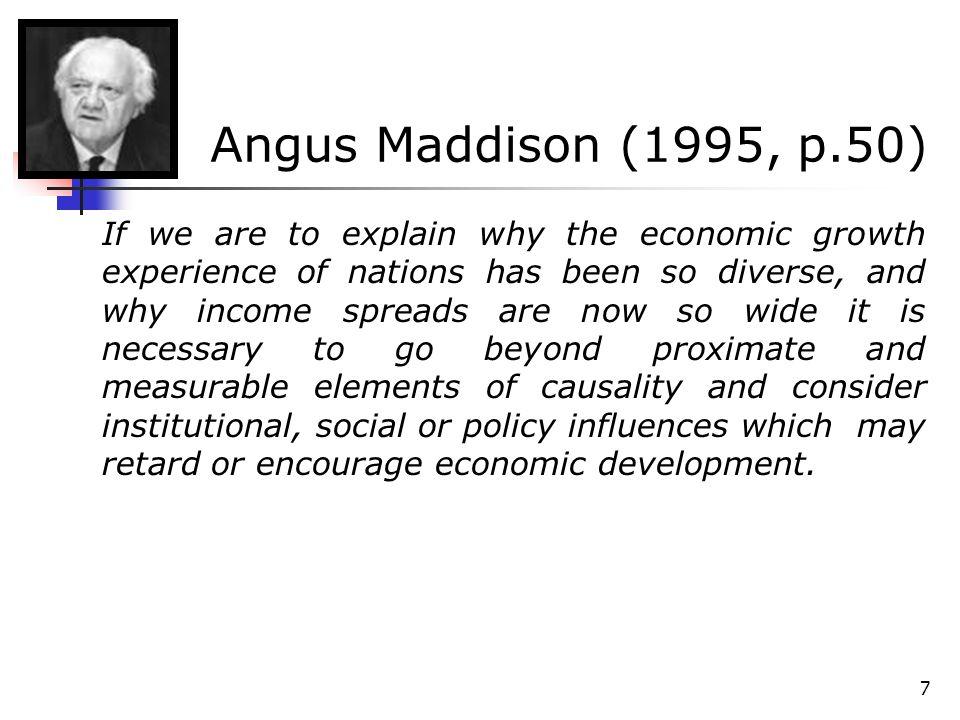 28 O crescimento econômico e as instituições Para North e Thomas (1973), as causas do crescimento são os incentivos proporcionados por uma organização eficiente.