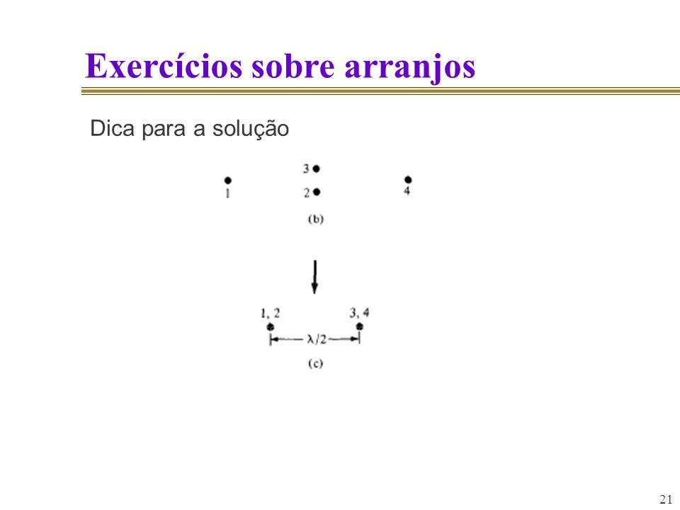 21 Exercícios sobre arranjos Dica para a solução