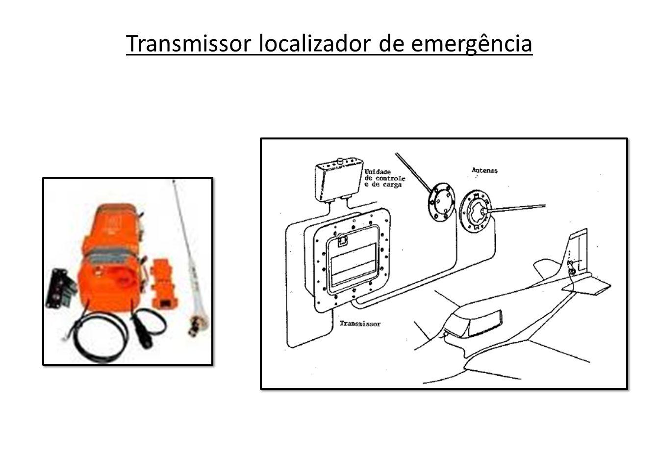 O teste operacional do transmissor de emergência pode ser executado sintonizando-se um receptor de comunicações na frequência de emergência (121,5 MHz) e ativando-se o transmissor através do controle remoto.