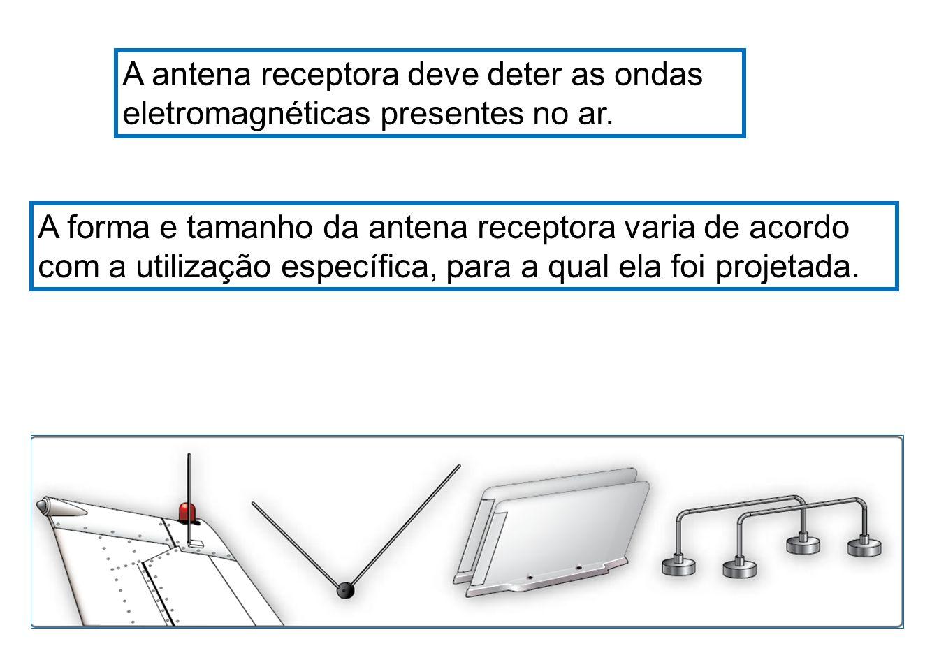 Nos equipamentos de comunicação instalados a bordo, a mesma antena é normalmente utilizada para a recepção e transmissão de sinais.