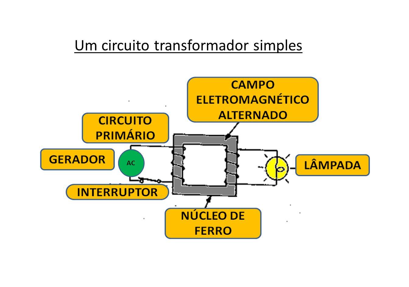 Não há qualquer ligação direta entre os circuitos primário e secundário.