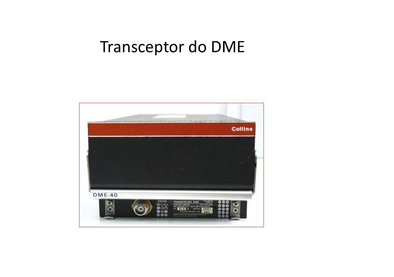 Antena do DME A fim de evitar interrupção na operação DME, a antena deve ser instalada num ponto que não fique bloqueado pela asa, quando a aeronave estiver inclinada.