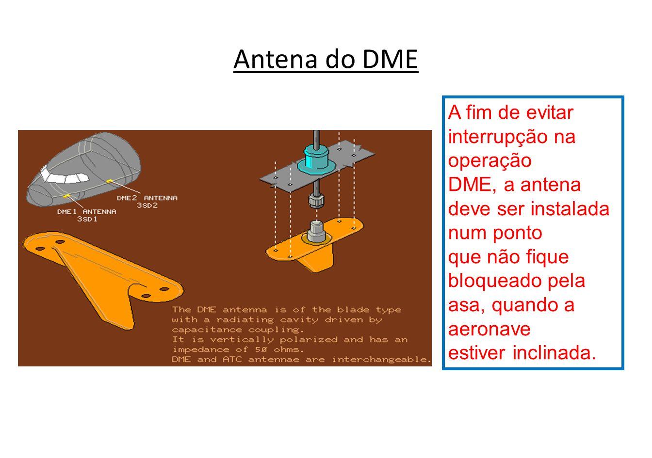 Indicador do DME Esta distância é indicada em milhas náuticas num instrumento do painel, VORTAC