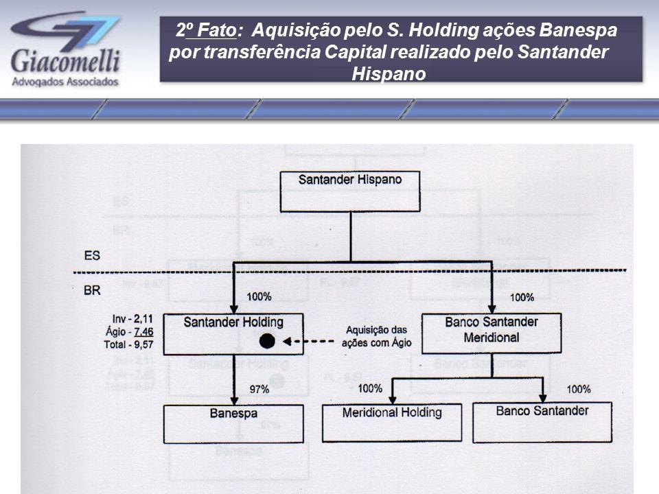 Alegações do Fisco não questiona a existência do ágio pago pelo Santander Central Hispano.
