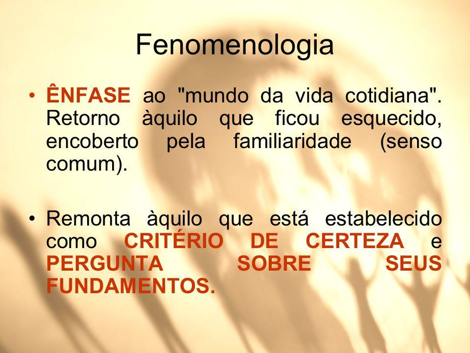 Fenomenologia ÊNFASE ao