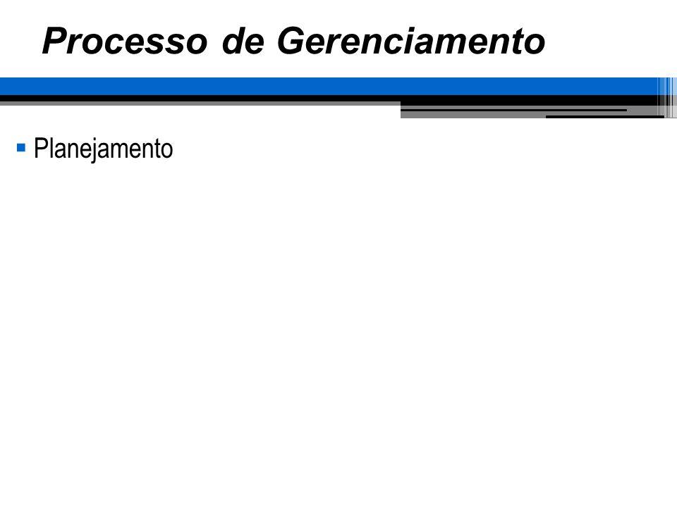 Processo de Gerenciamento Planejamento