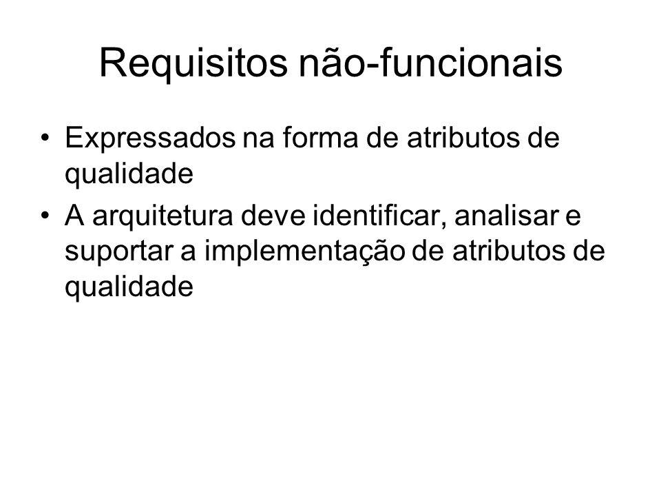 Requisitos funcionais Surgem das necessidades dos stakeholders Explicitam quais funcionalidades o sistema deve prover Abordagens variam: –Linguagem es