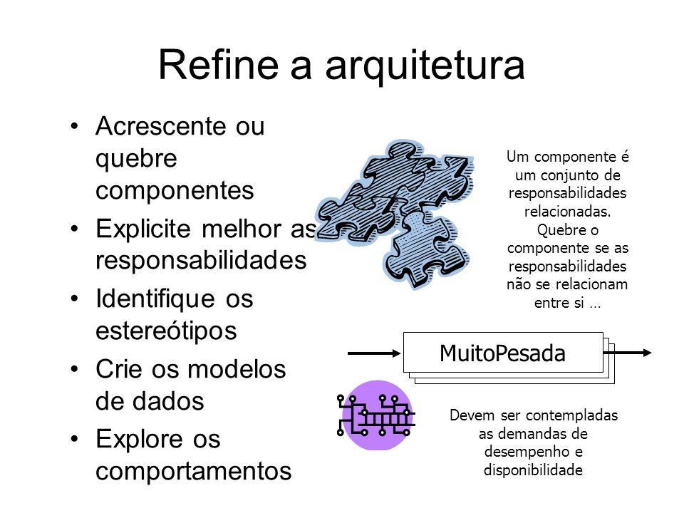 Este é o ponto de partida Outras iterações deverão melhorar a arquitetura de forma a melhor mapear as funcionalidades e os atributos de qualidade