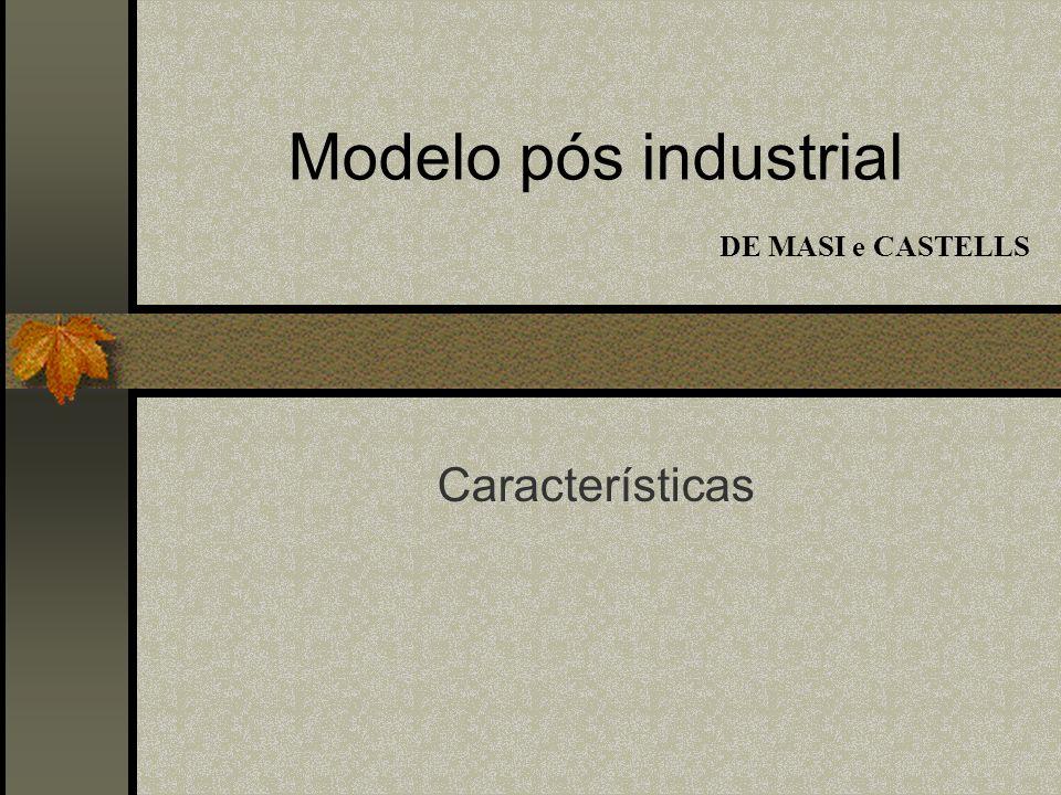 Modelo pós industrial DE MASI e CASTELLS Características