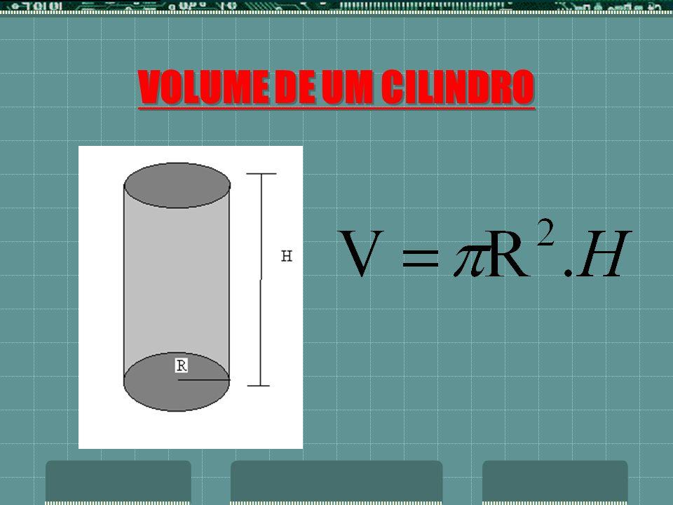 VOLUME DE UM CILINDRO