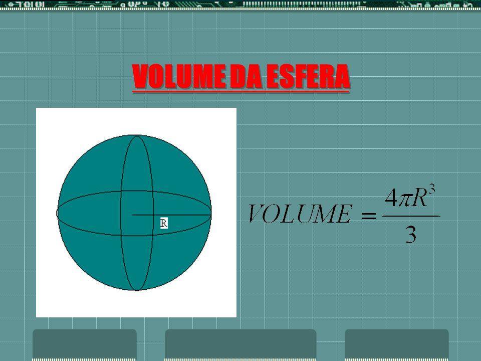 VOLUME DA ESFERA
