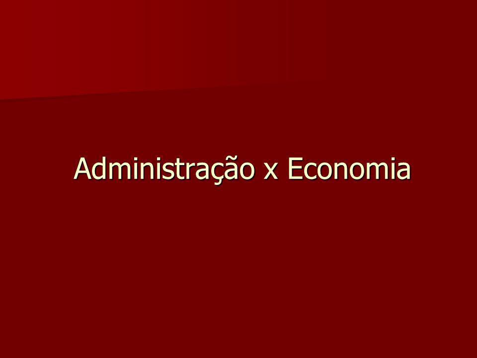 Administração x Economia